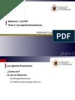Clases GEC Tema 2- Los Agentes Economicos