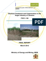 Ministry of Energy and Mining, Biomass Feedstock and Cogeneration in the Sugar Industry of Jamaica, March 2012, 3-2012