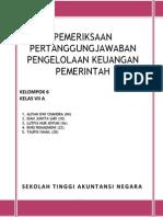 Pemeriksaan Pertanggungjawaban Pengelolaan Keuangan Pemerintah