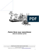 Brochure Faire Face Aux Sanctions