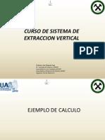 Calculo Servicio Minero (Extraccion Vertical)