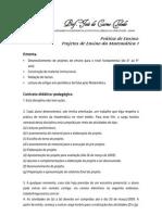Contrato didático 2009 - Projetos I