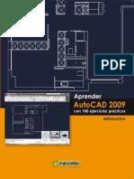 aprender AUTOCAD 2009 con 100 ejercicios prácticos