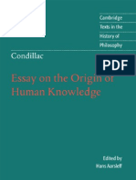 Essay on the Origin of Human Knowledge (Cambridge Texts in the History of Philosophy) - Etienne Bonnot de Condillac