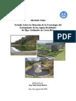 Estudio sobre situación de la tecnología tratamiento de agua