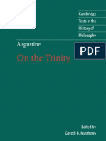 On the Trinity, Books 8-15 (Cambridge Texts in the History of Philosophy) - Augustine