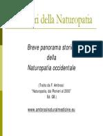 Sintesi storia naturopatia