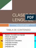 Clases de Lenguaje - Exposición