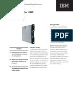 IBM HS22 Datasheet