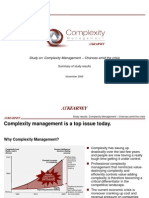 Complexity Management Study Results Sent Internally