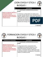 Formacion Civica y Etica i Planeacion 2013 Bloque II Parte II