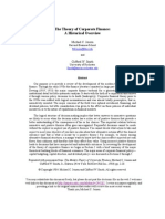 The Theory of Corporate Finance - A Historical Overview