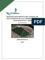 Resumen Descriptivo Del Sistema de Tratamiento de Agua Residual en La Ciudad de Puno