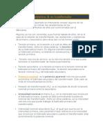 1.3.4. Valores y parámetros de un transformador