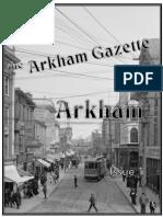 Arkham Gazette Issue 1 Ver 1 0