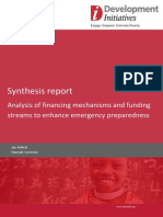 Analysis of financing mechanisms and funding streams to enhance emergency preparedness
