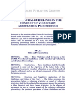 NCMB Procedural Guidelines in the Conduct of Voluntary Arbitration Proceedings