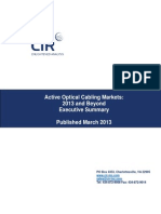 Executive Summary from ACTIVE OPTICAL CABLING MARKETS