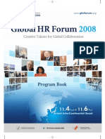 Program Book of Global HR Forum 2008
