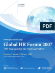 Program Book of Global HR Forum 2007