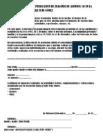 AUTORIZACIÓN PARA LA PUBLICACIÓN DE IMAGENES DE ALUMNOS