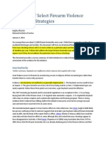 Summary of Select Firearm Violence Prevention Strategies---gun registration and confiscation