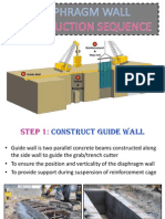 Diaphragm Wall Construction Sequence