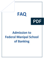 FAQs Manipal School of Banking
