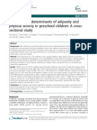Sociocultural Determinants of Adiposity and Physical Activity en Preschool Children. a Cross-Sectional Study