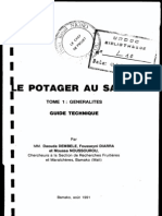 Le Potager Au Sahel