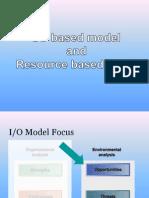 IO & Resource Based Model - SM