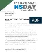 PRESS RELEASE - Modern Aussie Man White Paper Launch