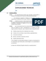Especificaciones tecnicas reservorios