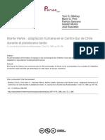 Monte Verde  adaptación humana en el Centro Sur de Chile durante el pleistoceno tardio