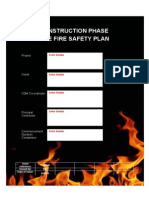 Construction Phase Site Fire Safety Plan Template