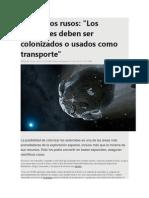 Posibilidad de Colonizar Asteroides
