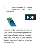 Financial Services Mobile Apps Help Both Businesses and Their Customers