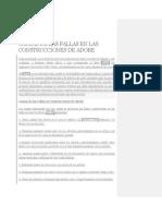 Causas de Las Fallas en Las Construcciones de Adobe
