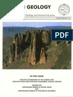 Oregon Geology Vol 61