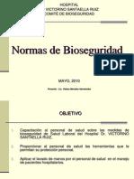 Present Ac i on Norm as de Bio Seguridad