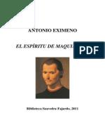 21139 - Antonio Eximeno - El espíritu de Maquiavelo