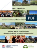 SEL- SRCMA Landcare and LLS Transition Report Nov 2013