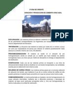 PROCESO DE ELABORACIÓN Y PRODUCCIÓN DE CEMENTO CRUZ AZUL