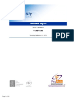 Identity Self-Perception Business Personality Questionnaire Feedback Report