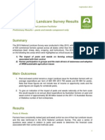 Preliminary 2013 NLF Survey Results - Pests and Weeds