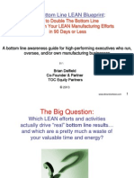 The Bottom Line LEAN Blueprint