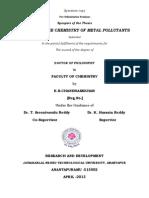 STUDIES IN THE CHEMISTRY OF METAL POLLUTANTS
