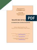 Condillac Etienne Bonnot de Traite Des Sensations Traite Des Sensations