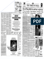 Gen. Zia Ul Haq  Killed in Air Crash. Front page Times of India dated 18-08- 1988