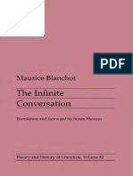 Blanchot, M - Infinite Conversation (Minnesota, 1993)